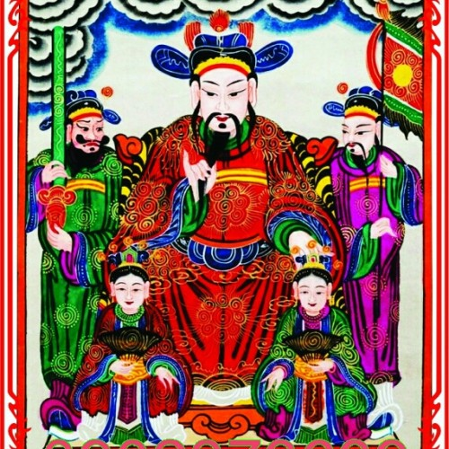 Ngũ Công Vương Phật .  Ảnh Thờ 25x32cm